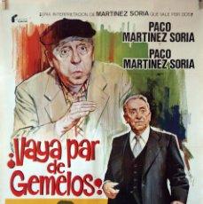 Cine: VAYA PAR DE GEMELOS. PACO MARTÍNEZ SORIA. CARTEL ORIGINAL 1977. 70X100. Lote 160613682