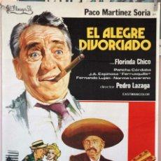 Cine: EL ALEGRE DIVORCIADO. PACO MARTÍNEZ SORIA. CARTEL ORIGINAL 1975. 70X100. Lote 160621838