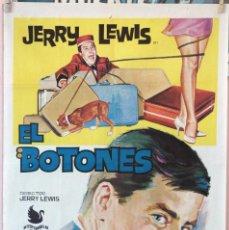 Cine: EL BOTONES. JERRY LEWIS. CARTEL ORIGINAL 1966. 70X100. Lote 160622330