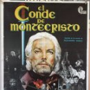 Cine: EL CONDE DE MONTECRISTO. RICHARD CHAMBERLAIN-TONY CURTIS. CARTEL ORIGINAL 1975. 70X100. Lote 160623386