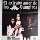 Cine: CARTEL CINE ORIGINAL: EL ESTRAÑO AMOR DE LOS VAMPIROS. Lote 160630042