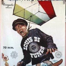 Cine: GRANDES VACACIONES. LOUIS DE FUNES. CARTEL ORIGINAL 1968. 70X100. Lote 160660594