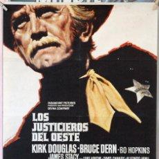 Cine: LOS JUSTICIEROS DEL OESTE. KIRK DOUGLAS-BRUCE DERN. CARTEL ORIGINAL 1975. 100X70. Lote 160711054