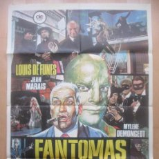 Cine: CARTEL CINE, FANTOMAS VUELVE, LOUIS DE FUNES, JEAN MARAIS, 1975, C1558. Lote 213585110
