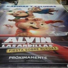 Cine: CARTEL DE CINE ORIGINAL ALVIN Y LAS ARDILLAS 2018. Lote 160970053