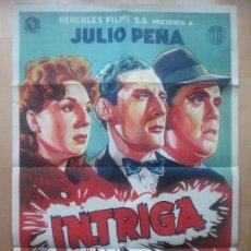 Cine: CARTEL CINE, INTRIGA, JULIO PEÑA, BLANCA DE SILOS, LITOGRAFIA , C1570. Lote 160978734