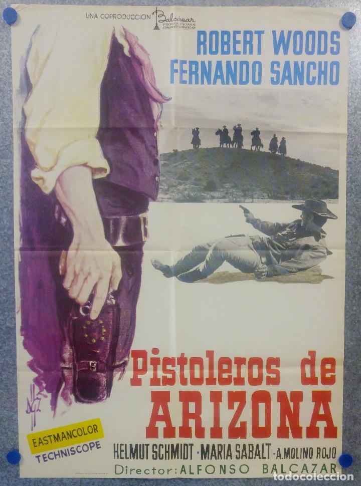 PISTOLEROS DE ARIZONA. ROBERT WOODS, FERNANDO SANCHO, HELMUT SCHMID. AÑO 1974 POSTER (Cine - Posters y Carteles - Westerns)