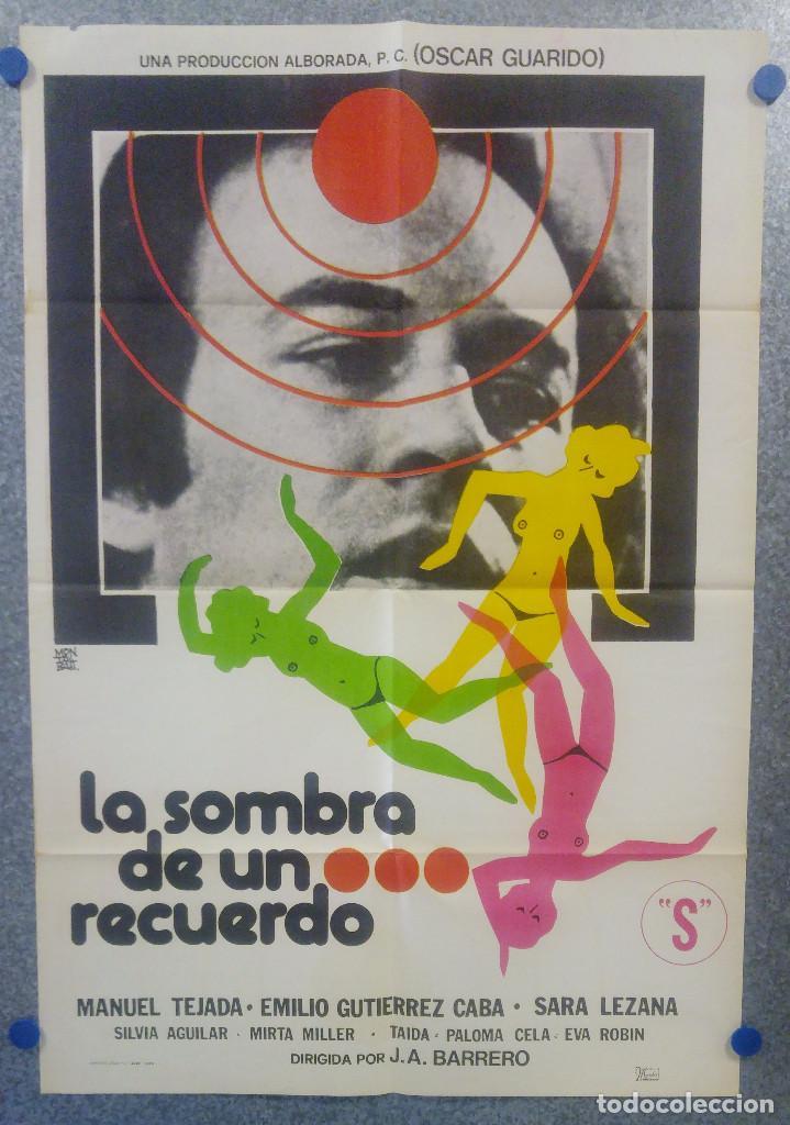 LA SOMBRA DE UN RECUERDO. MANUEL TEJADA, EMILIO GUTIÉRREZ CABA, SARA LEZAN AÑO 1978 POSTER ORIGINAL (Cine - Posters y Carteles - Clasico Español)