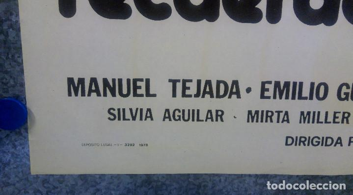 Cine: La sombra de un recuerdo. Manuel Tejada, Emilio Gutiérrez Caba, Sara Lezan AÑO 1978 POSTER ORIGINAL - Foto 5 - 160994542