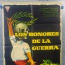 Cine: LOS HONORES DE LA GUERRA. ALBERT HEHN, BERNARD VERLEY, SERGE DAVRI AÑO 1963 POSTER ORIGINAL. Lote 161066470