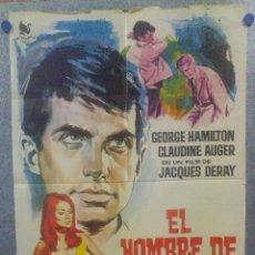 Cine: EL HOMBRE DE MARRAKECH. CLAUDINE AUGER, GEORGE HAMILTON, ALBERTO DE MENDOZ AÑO 1966 POSTER ORIGINAL. Lote 161079262