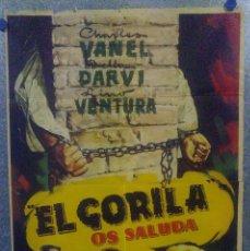 Cine: EL GORILA OS SALUDA. LINO VENTURA, CHARLES VANEL, PIERRE DUX . POSTER ORIGINAL. Lote 161085866