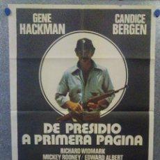 Cine: DE PRESIDIO A PRIMERA PÁGINA. GENE HACKMAN, CANDICE BERGEN POSTER ORIGINAL. Lote 161096954