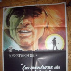 Cine: LAS AVENTURAS DE JEREMIAH JOHNSON. ROBERT REDFORD PÓSTER ORIGINAL DE 70 X100CM. Lote 161153510