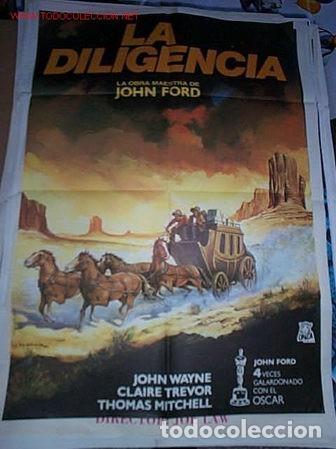 PÓSTER DE CINE ORIGINAL 70X100CM LA DILIGENCIA DE JOHN FORD (Cine - Posters y Carteles - Westerns)