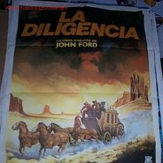 Cine: PÓSTER DE CINE ORIGINAL 70X100CM LA DILIGENCIA DE JOHN FORD. Lote 161204762