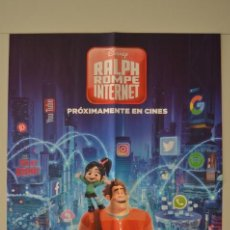 Cine: POSTER O CARTEL DOBLE #006 DE RALPH ROMPE INTERNET Y HOUSE OF CARDS. Lote 161266166