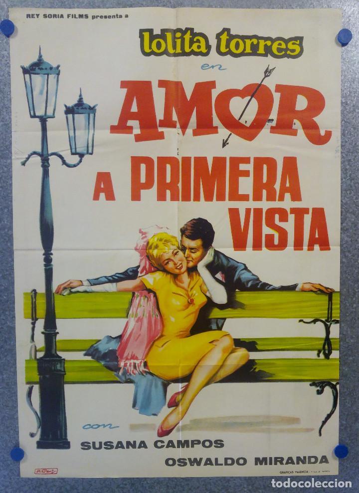 AMOR A PRIMERA VISTA. LOLITA TORRES, SUSANA CAMPOS. POSTER ORIGINAL (Cine - Posters y Carteles - Clasico Español)
