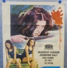 Cine: HERMANAS. MARGOT KIDDER, JENNIFER SALT, CHARLES DURNING. AÑO 1974. POSTER ORIGINAL. Lote 161571678