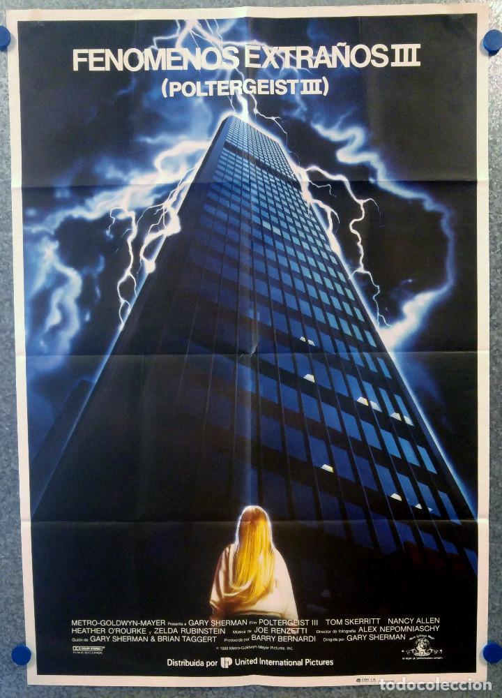 POLTERGEIST III FENOMENOS EXTRAÑOS. AÑO 1988. POSTER ORIGINAL (Cine - Posters y Carteles - Terror)