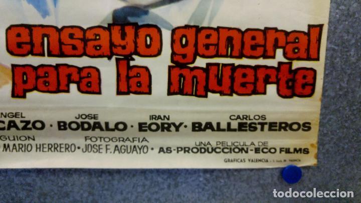 Cine: Ensayo general para la muerte. Susana Campos, Carlos Estrada. AÑO 1962. POSTER ORIGINAL - Foto 5 - 161721206