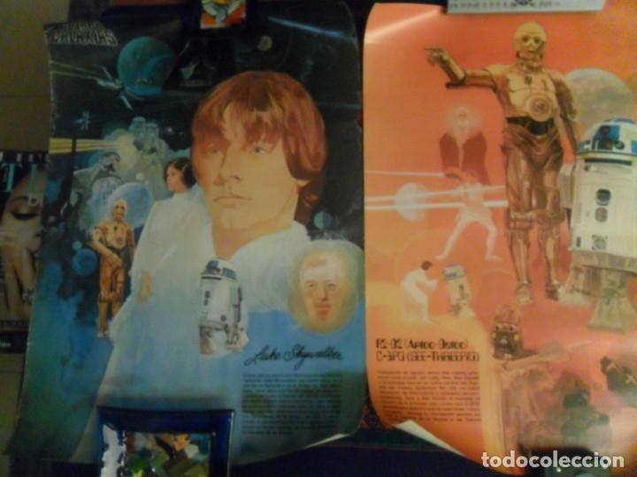 Cine: STAR WARS LA GUERRA DE LAS GALAXIAS CARTEL COCA COLA ESPAÑA NºS 1 2 3. AÑO 1977. 61X43 CMS. RAROS. - Foto 2 - 161731362