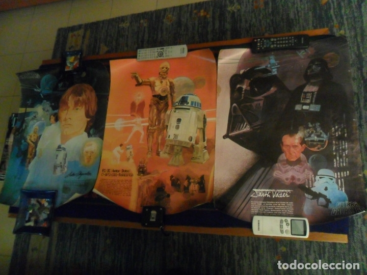 STAR WARS LA GUERRA DE LAS GALAXIAS CARTEL COCA COLA ESPAÑA NºS 1 2 3. AÑO 1977. 61X43 CMS. RAROS. (Cine - Posters y Carteles - Ciencia Ficción)