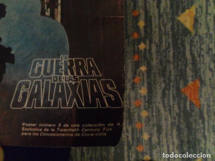 Cine: STAR WARS LA GUERRA DE LAS GALAXIAS CARTEL COCA COLA ESPAÑA NºS 1 2 3. AÑO 1977. 61X43 CMS. RAROS. - Foto 7 - 161731362