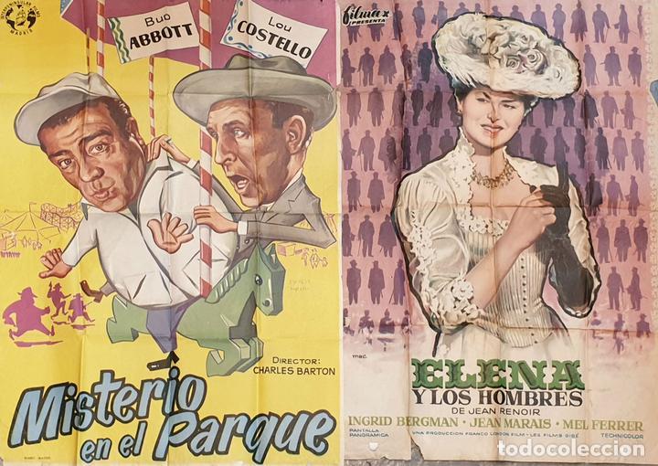 COLECCIÓN DE 4 CARTELES DE CINE Y ESPECTACULOS. ORIGINALES. CIRCA 1940. (Cine - Posters y Carteles - Clasico Español)