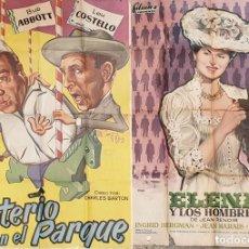 Cine: COLECCIÓN DE 4 CARTELES DE CINE Y ESPECTACULOS. ORIGINALES. CIRCA 1940. . Lote 161774022