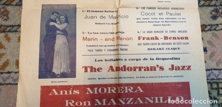 Cine: COLECCIÓN DE 4 CARTELES DE CINE Y ESPECTACULOS. ORIGINALES. CIRCA 1940. - Foto 17 - 161774022