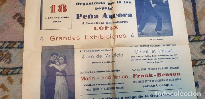 Cine: COLECCIÓN DE 4 CARTELES DE CINE Y ESPECTACULOS. ORIGINALES. CIRCA 1940. - Foto 18 - 161774022
