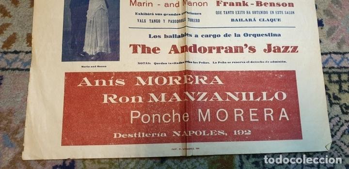 Cine: COLECCIÓN DE 4 CARTELES DE CINE Y ESPECTACULOS. ORIGINALES. CIRCA 1940. - Foto 19 - 161774022
