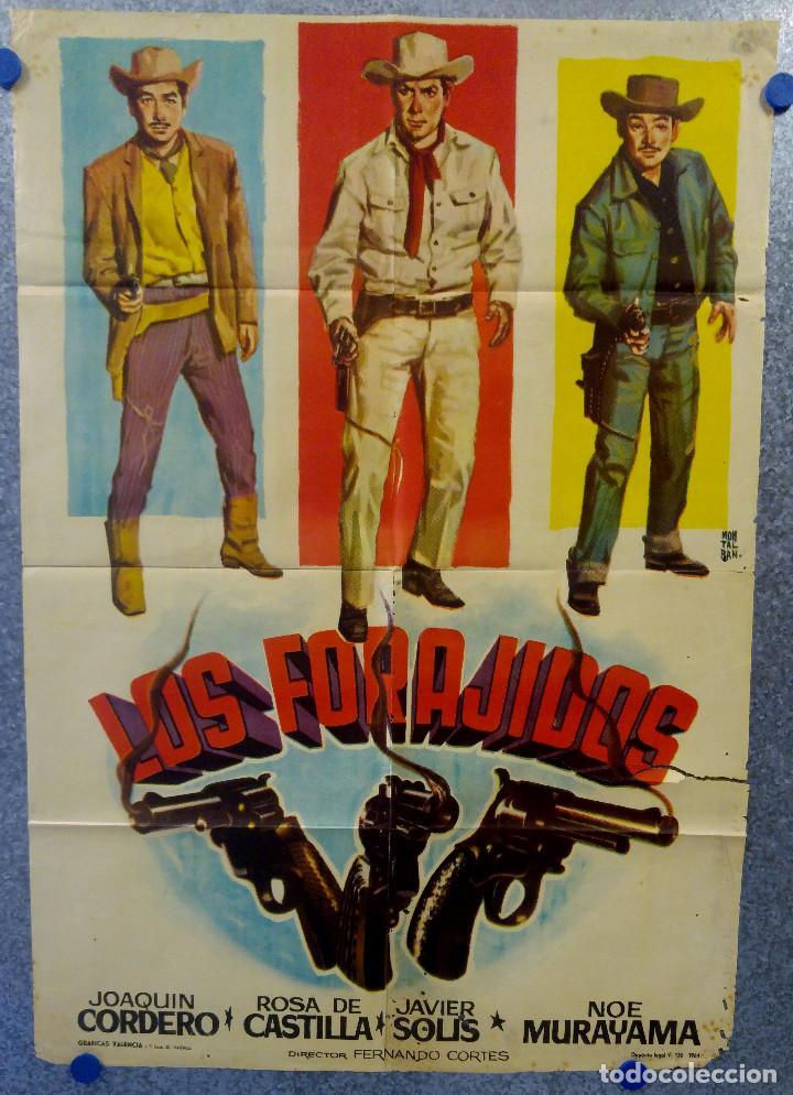 LOS FORAJIDOS. JOAQUIN CORDERO, ROSA DE CASTILLA. AÑO 1964 POSTER ORIGINAL (Cine - Posters y Carteles - Westerns)