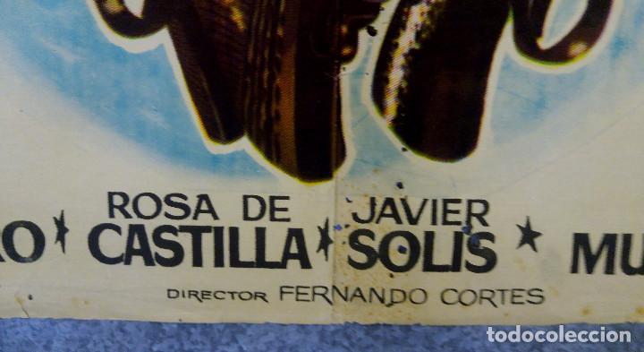 Cine: LOS FORAJIDOS. JOAQUIN CORDERO, ROSA DE CASTILLA. AÑO 1964 POSTER ORIGINAL - Foto 10 - 161926386