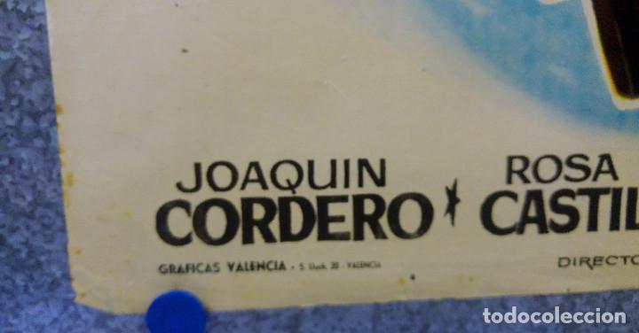 Cine: LOS FORAJIDOS. JOAQUIN CORDERO, ROSA DE CASTILLA. AÑO 1964 POSTER ORIGINAL - Foto 11 - 161926386