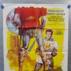 Cine: LA MAZMORRA DEL DIABLO, IVANHOE. ROGER MOORE ROBERT BROWN. AÑO 1961 POSTER ORIGINAL. Lote 217987145