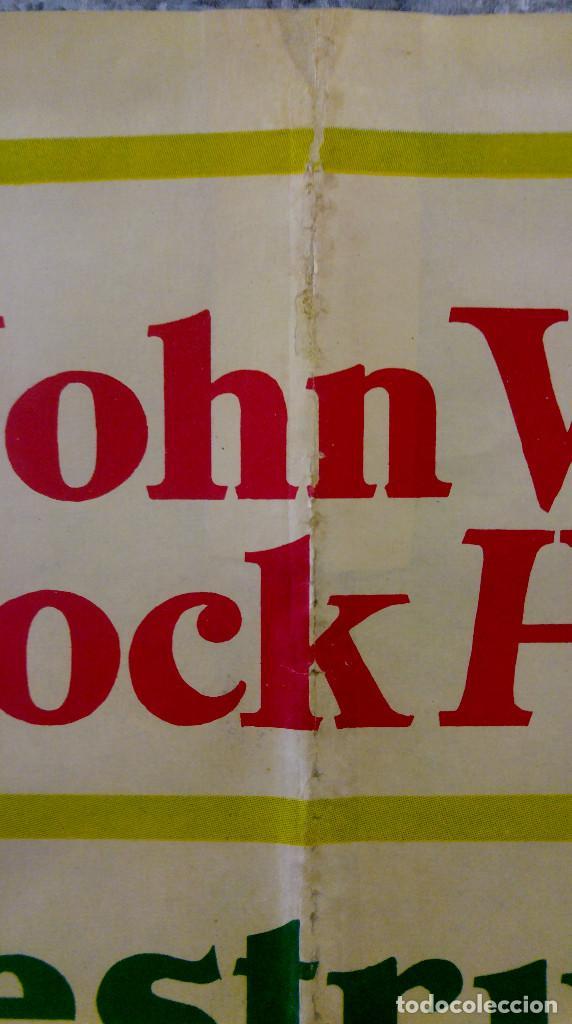 Cine: LOS INDESTRUCTIBLES. JOHN WAYNE, ROCK HUDSON . AÑO 1969. POSTER ORIGINAL - Foto 3 - 161935154