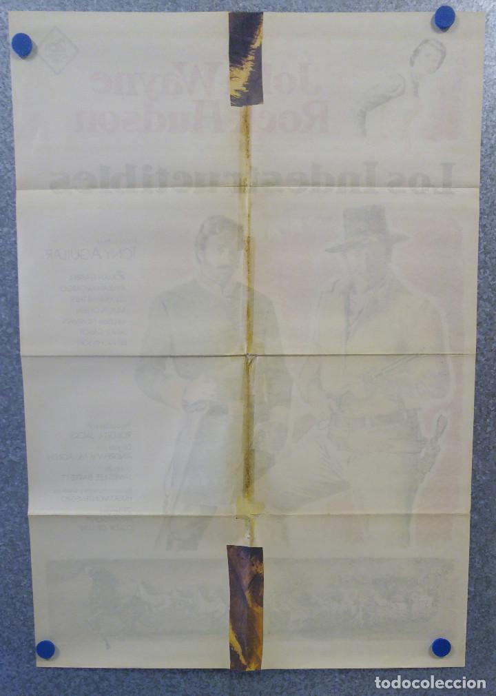 Cine: LOS INDESTRUCTIBLES. JOHN WAYNE, ROCK HUDSON . AÑO 1969. POSTER ORIGINAL - Foto 8 - 161935154