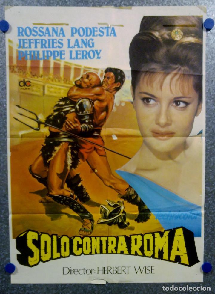 SOLO CONTRA ROMA. ROSSANA PODESTÀ, LANG JEFFRIES. POSTER ORIGINAL (Cine - Posters y Carteles - Aventura)