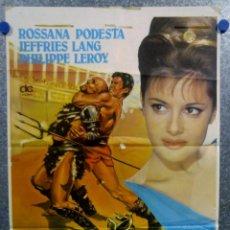 Cine: SOLO CONTRA ROMA. ROSSANA PODESTÀ, LANG JEFFRIES. POSTER ORIGINAL. Lote 162105554