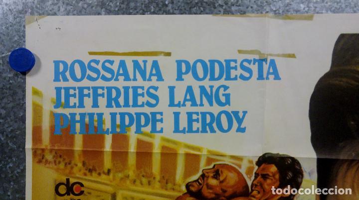 Cine: SOLO CONTRA ROMA. Rossana Podestà, Lang Jeffries. POSTER ORIGINAL - Foto 2 - 162105554