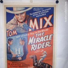Cine: THE MIRACLE RIDERS - 105 X 70CM - USA - LITO - ENTELADO. Lote 162137666