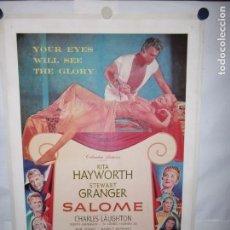 Cinema: SALOMÉ - 105 X 70CM - 1953 - LITO - USA - ENTELADO. Lote 162137734