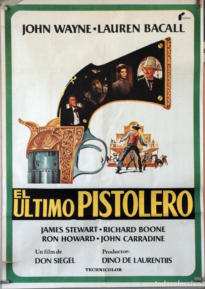 EL ÚLTIMO PISTOLERO. JOHN WAYNE-JAMES STEWART-LAUREN BACALL. CARTEL ORIGINAL 1977. 70X100 (Cine - Posters y Carteles - Westerns)