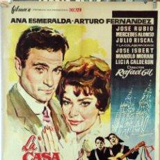 Cine: LA CASA DE LA TROYA. ARTURO FERNÁNDEZ-ANA ESMERALDA. CARTEL ORIGINAL 1959. 100X70. Lote 162444570