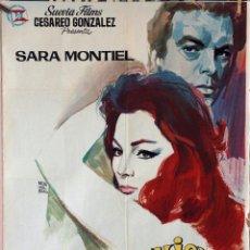 Cine: LA MUJER PERDIDA. SARA MONTIEL-TULIO DEMICHELI. CARTEL ORIGINAL 1966. 70X100. Lote 162444958