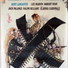 Cine: LOS PROFESIONALES.BURT LANCASTER-LEE MARVIN-ROBERT RYAN. CARTEL ORIGINAL 1966. 70X100. Lote 162445382