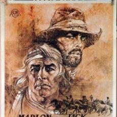 Cine: MISSOURI. MARLON BRANDO-JACK NICKOLSON. CARTEL ORIGINAL 1976. 70X100. Lote 162445730
