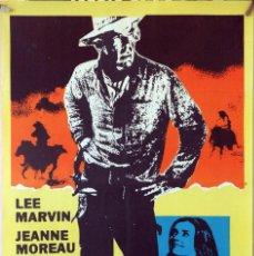 Cine: MONTY WALSH. LEE MARVIN-JEANNE MOREAU-JACK PALANCE. CARTEL ORIGINAL 1970. 70X100. Lote 162445970